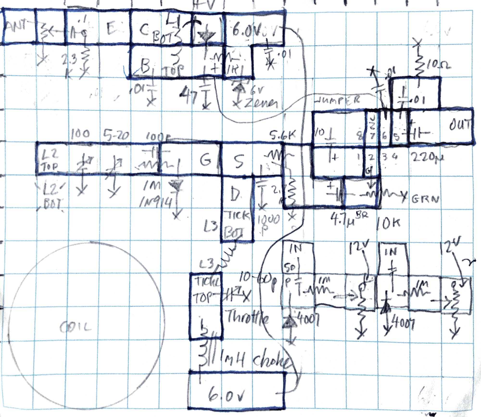 Circuit board cutout plan