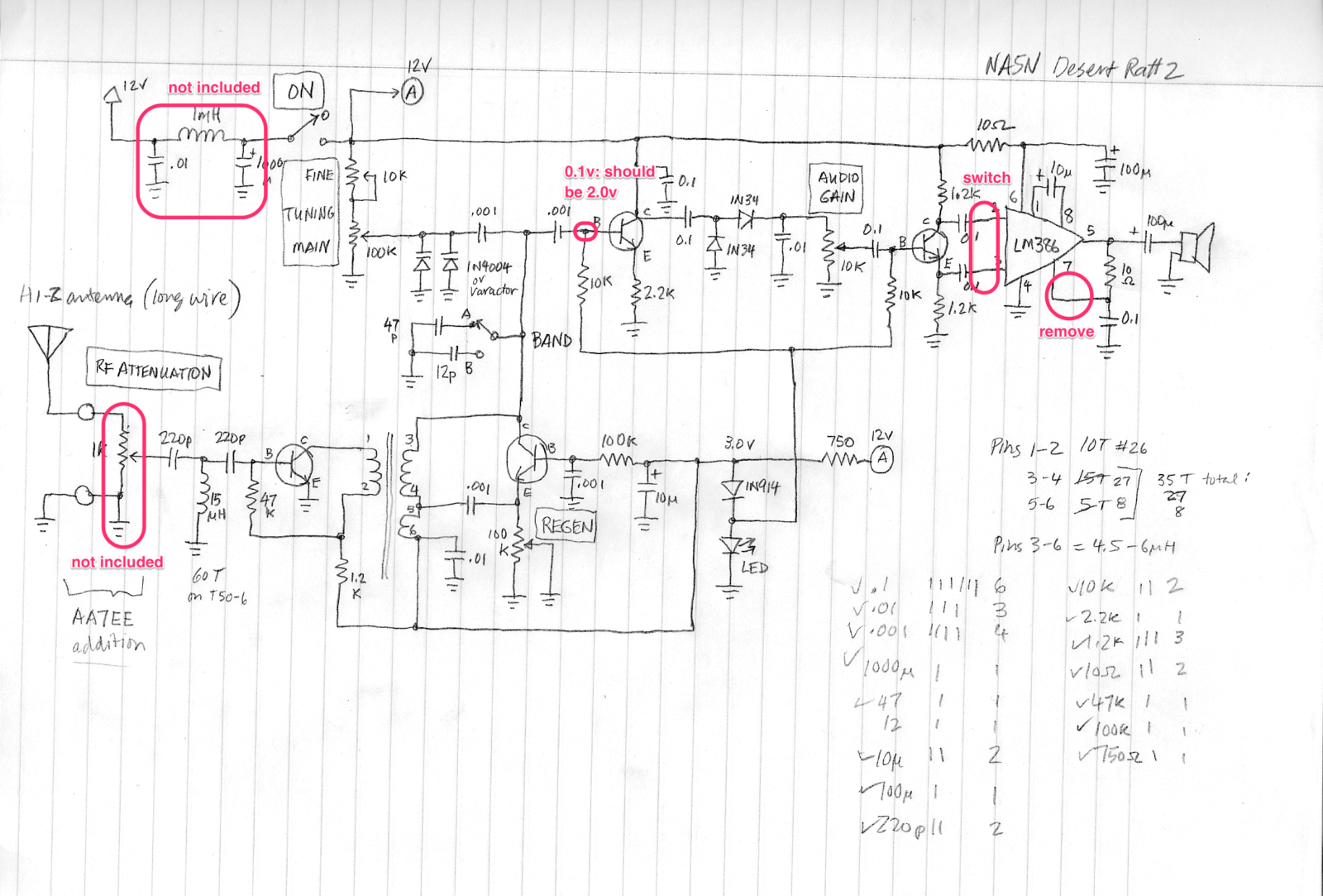Electronics Intellectual Curiosity Page 2 Regen Radio Circuit My Schematic Drawing For The First Build Of Desert Ratt